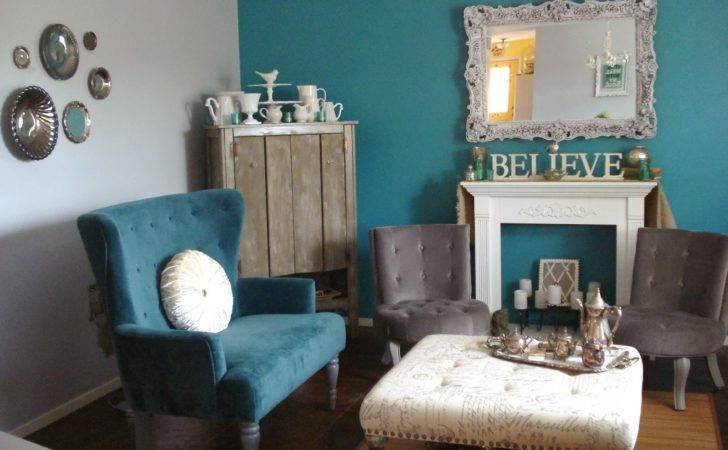 Store Addiction Refresh Your Home Gray Turquoise Living Room Tour