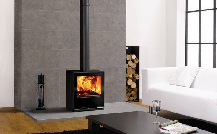 Stovax Riva Vision Medium Contemporary Multi Fuel Wood Burning Stove