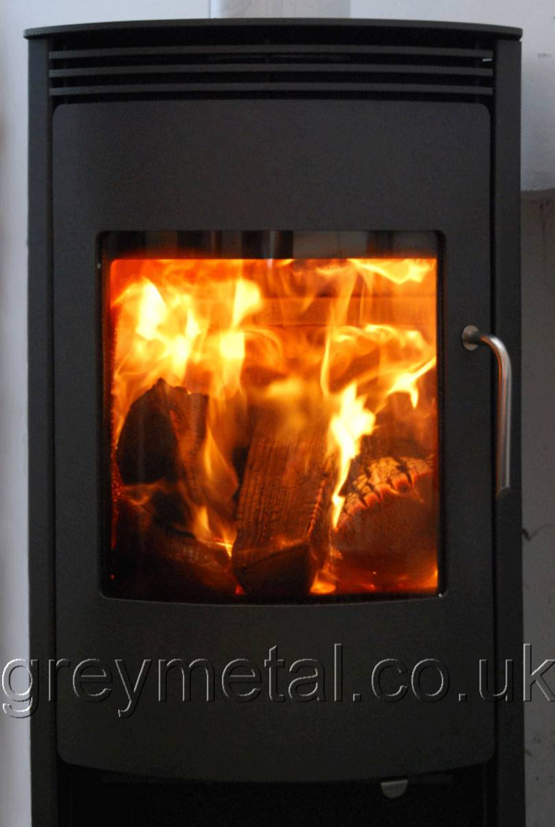Stoves Jupiter Rotating Wood Burning Multifuel Stove Grey
