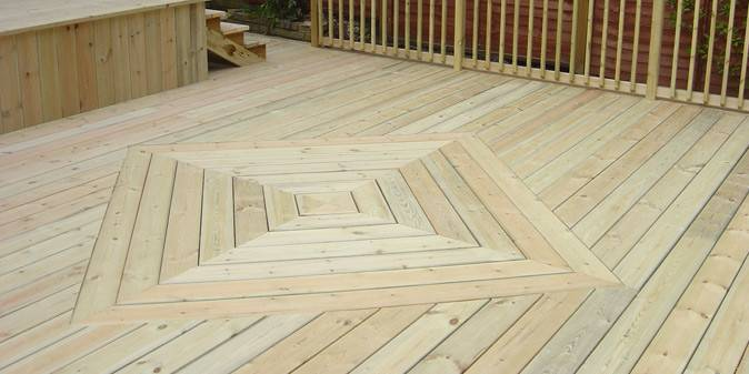 Striking Square Diamond Pattern Decking Boards Another