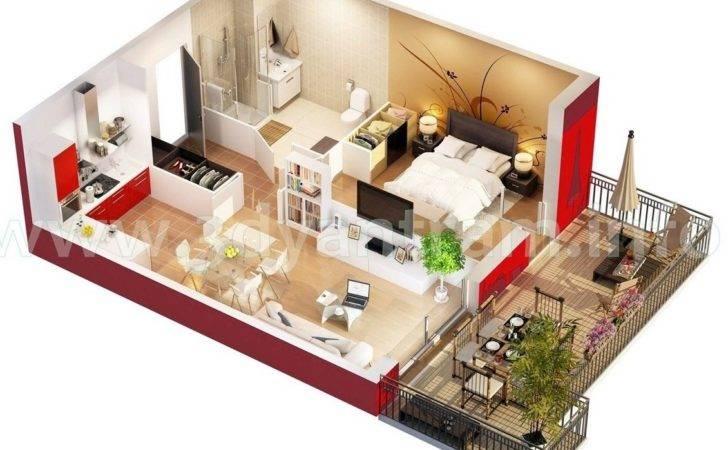 Studio Apartment Floor Plans