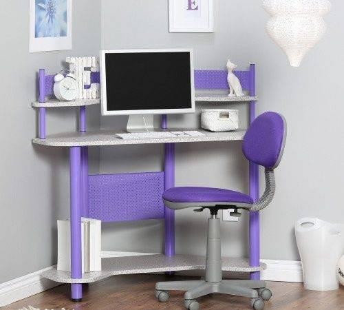 Studio Designs Study Corner Desk Purple Kids Desks Hayneedle