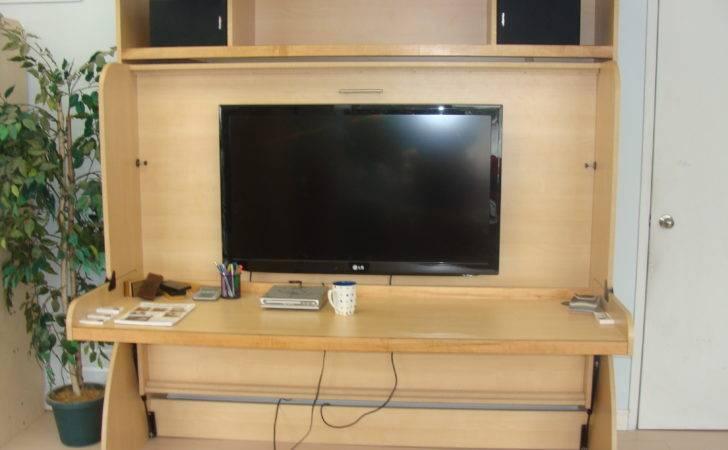 Studio Hideaway Bed Desk Hidden Factory Canada Hiddenbed