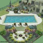 Studio North Metro Pool Layout Initial Landscape Design
