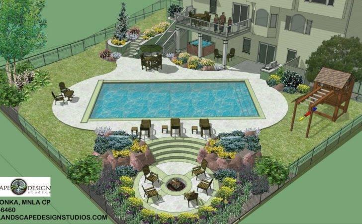 Studio North Metro Pool Layout Initial Landscape Design