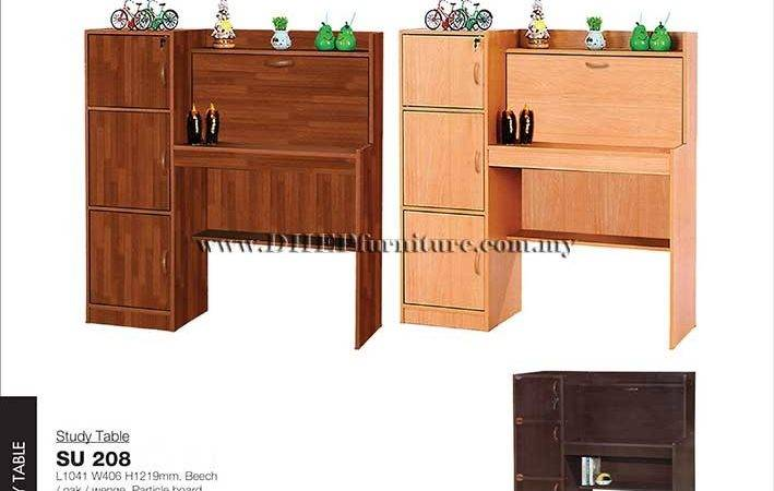 Study Table Cabinet Designs Wooden Side