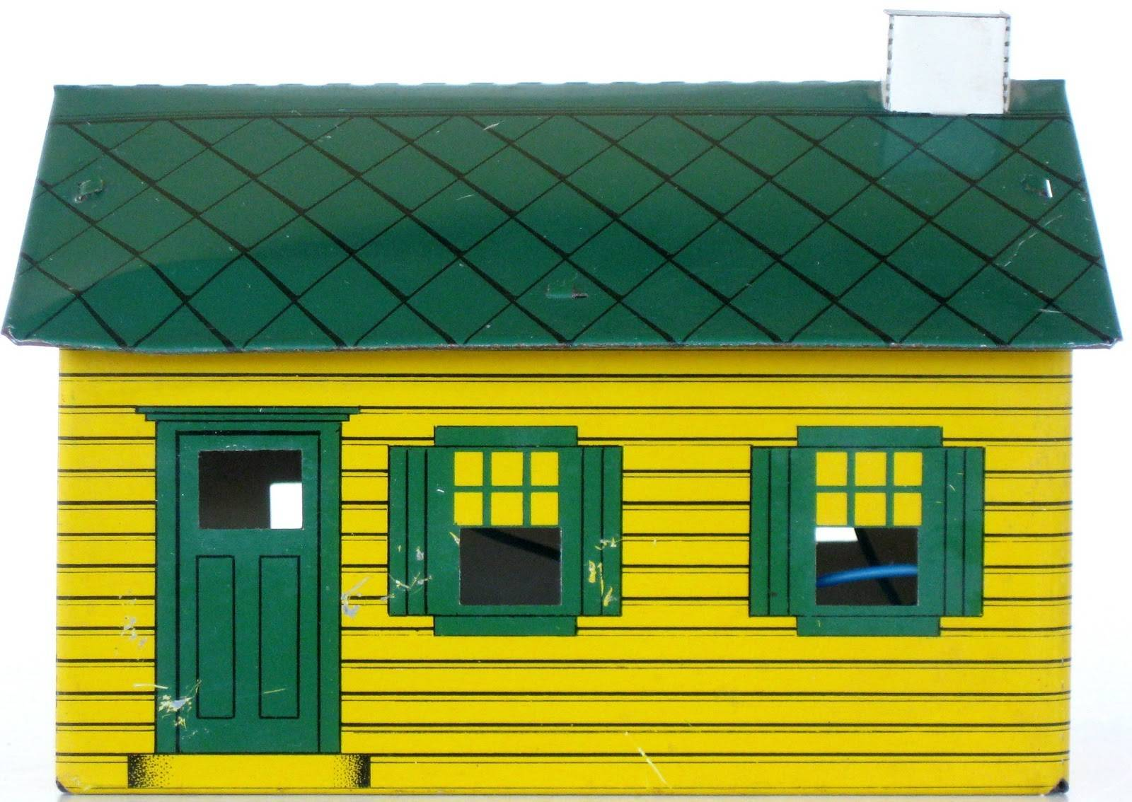 Stuff Sales Model Hilltop House Yellow Green Roof