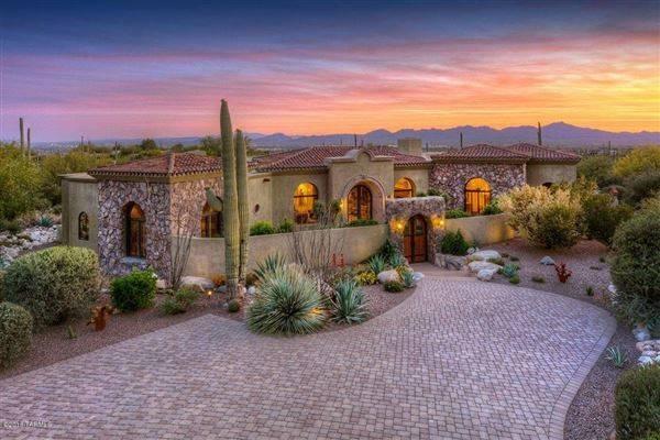 Stunning Tuscan Style Masterpiece Tucson Arizona Luxury Homes