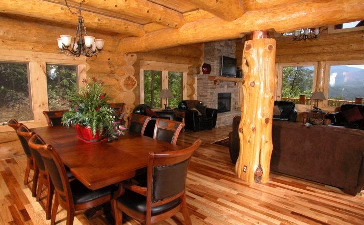 Sturdy Log Cabin Style Interior Design Pin Pinterest