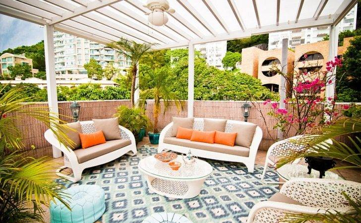Style Decor Tropical Patio Roof Ideas Decorating