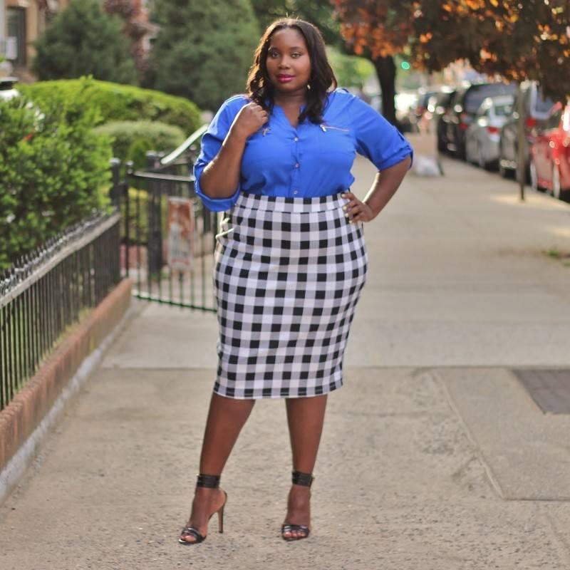 Style Torrid Checkered Plus Midi Skirt Stylish Curves