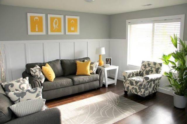 Stylish Grey Yellow Living Room Cor Ideas Digsdigs