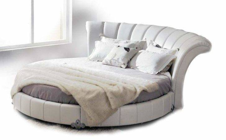 Stylish Leather Modern Contemporary Bedroom Designs Round Bed