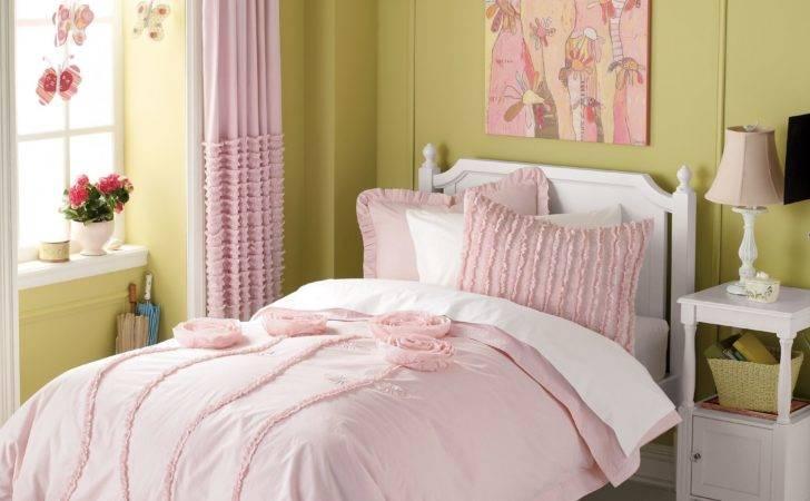 Stylish Light Pink Bedding Curtains Girls Room