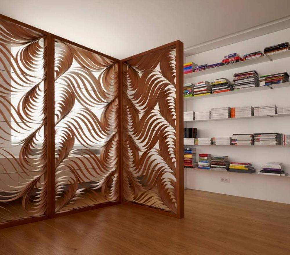 Stylish Modern Room Divider Curvy Shapes Pattern House