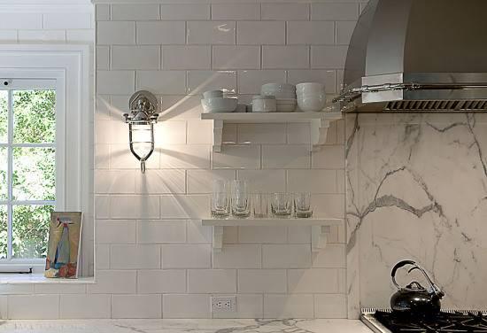 Subway Tile Backsplash Transitional Home Exterior Susan Obercian