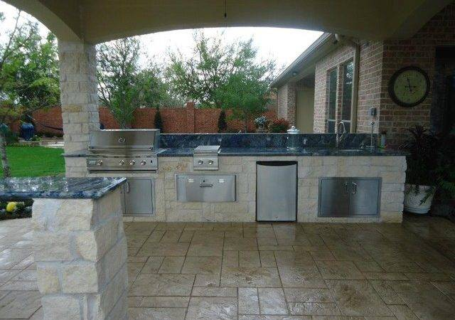 Summer Kitchen Fire Pit Eclectic Patio Houston Collinas