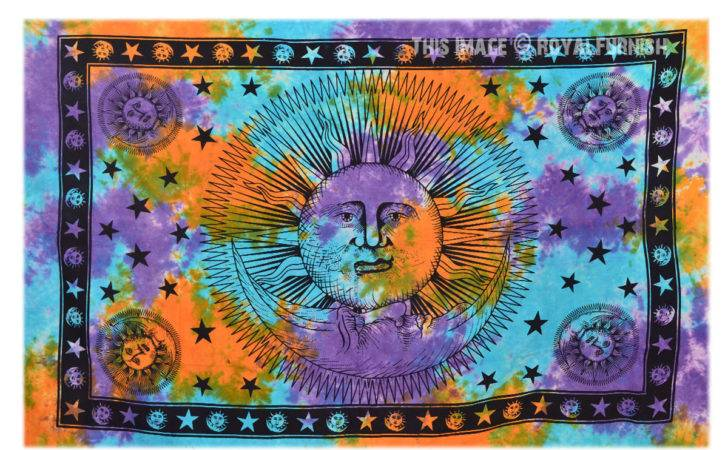 Sun Moon Tapestries Tie Dye Tapestry Wall Hanging