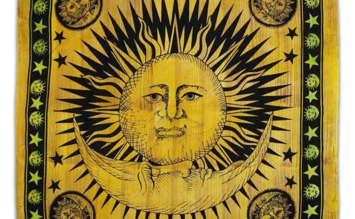 Sun Moon Tapestry Indian Cotton Rajasthanhomes