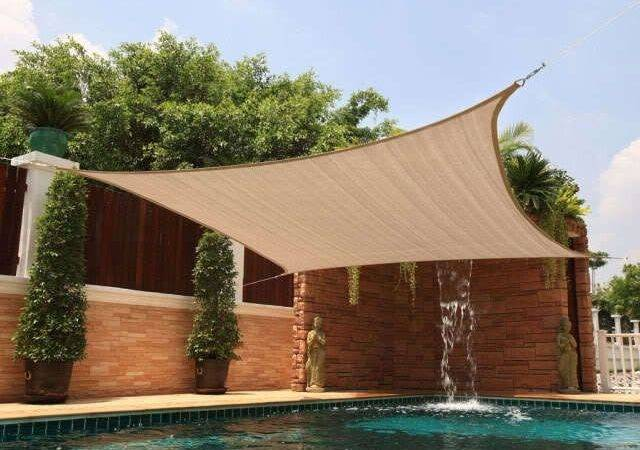 Sun Shade Sail Cover Canopy Outdoor Patio Yard Pool Sand Beige Ebay
