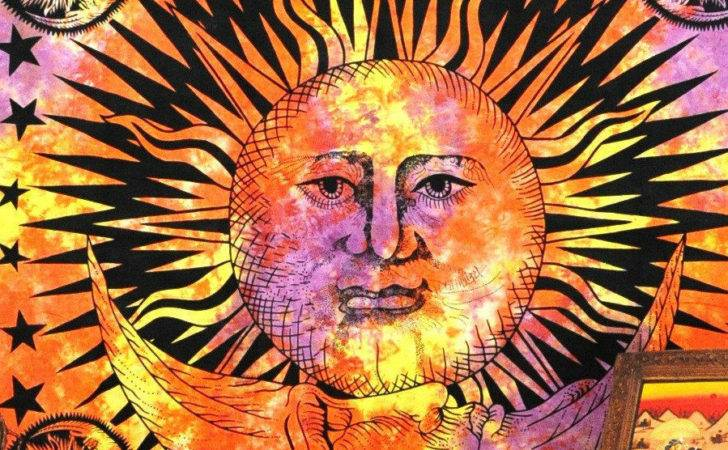 Sun Tapestry Moon Hippie Tapestries Wall Hanging Indian God