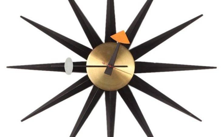Sunburst Wall Clock George Nelson Howard Miller Stdibs