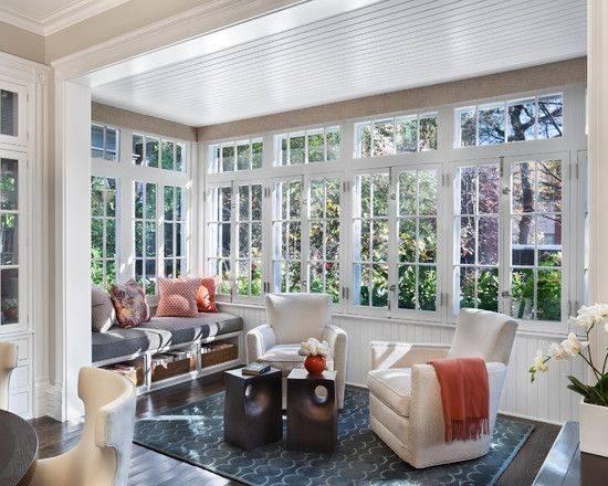 Sunroom Decorating Floors Frames Sunrooms Home Design Window Seats