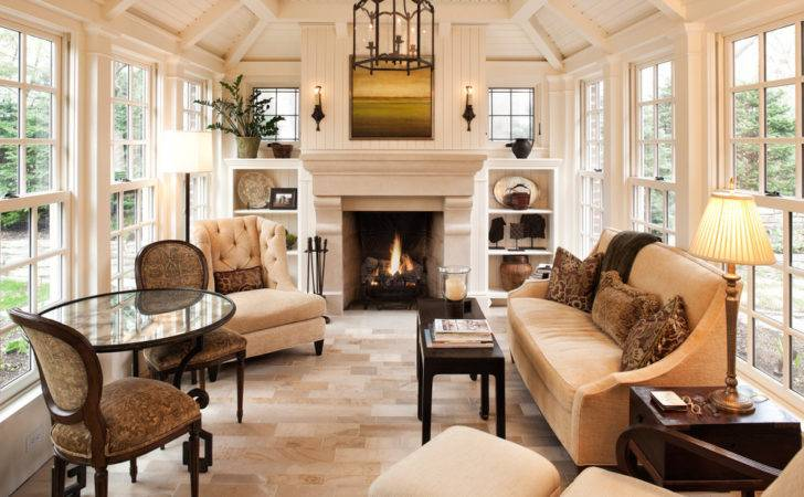 Sunroom Furniture Traditional Exposed Rafters Built