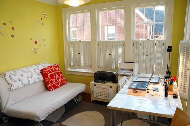 Sunroom Office After Flickr Sharing