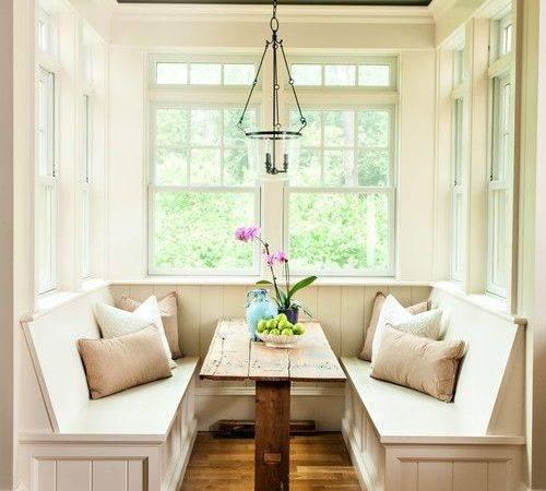 Sunroom Window Ideas Small Breakfast Nook Cozy