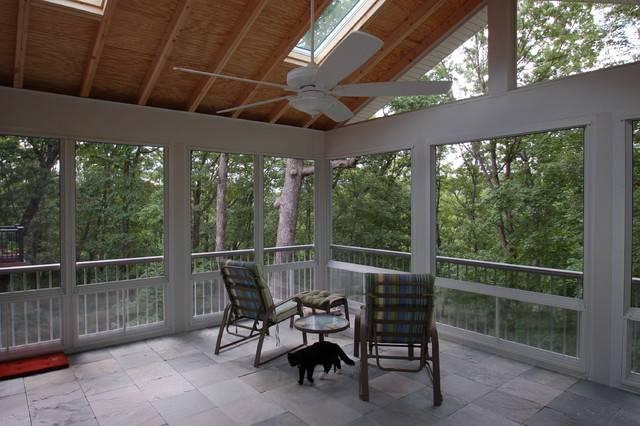 Sunrooms Traditional Porch Louis California Custom Decks