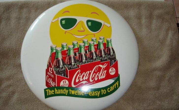 Sunshine Man Coca Cola Button Pack Sign