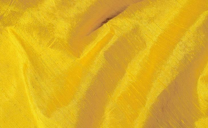 Sunshine Yellow Silk Dupioni Fabric Chadquilt
