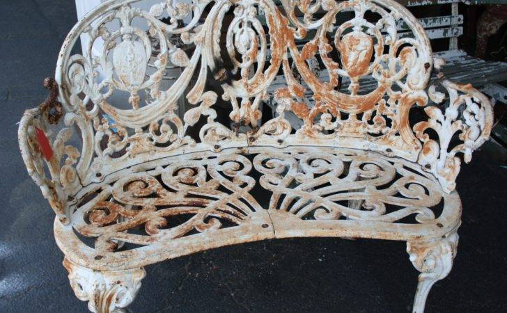 Super Ornate Cast Iron Garden Set Sale Antiques