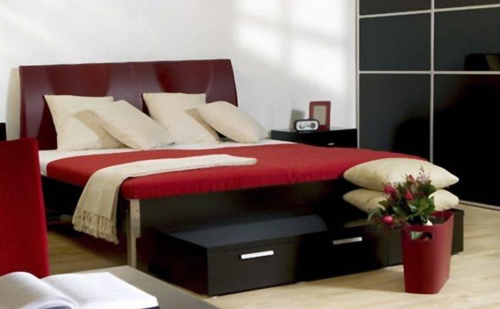 Superb Black Interior Bedroom Modern Red Decobizz