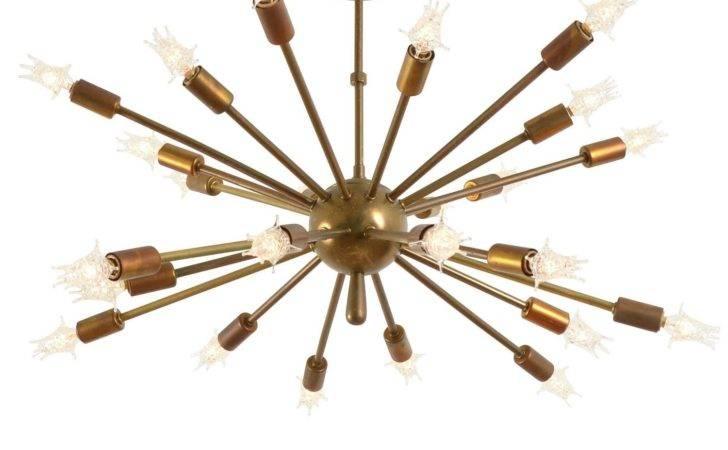 Supreme Sputnik Chandelier Original Brass Circa Stdibs