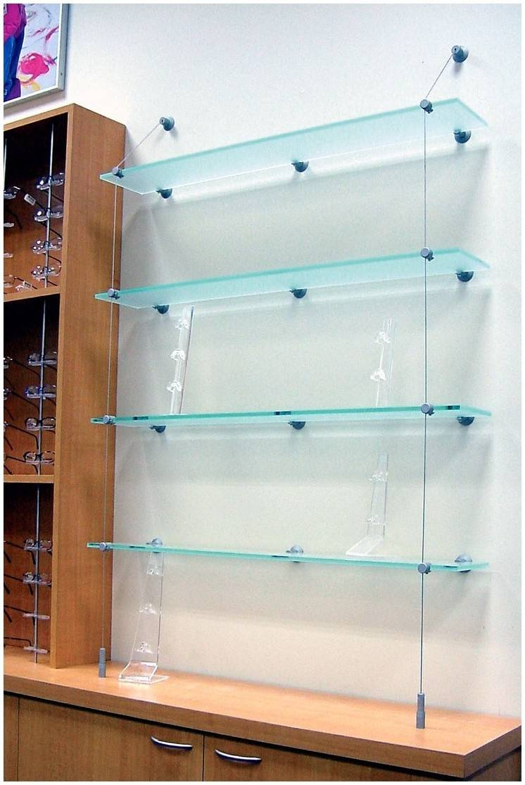 Suspended Glass Display Shelves Shelf Ideas