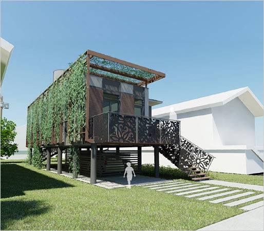 Sustainable Homes Katrina Victims Brad Pitt