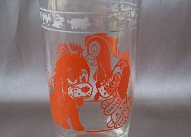 Swanky Swigs Dog Rooster Glass Colemanscollectibles Ruby