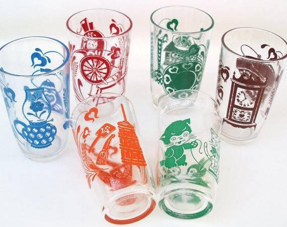 Swanky Swigs Juice Glasses Kids Drinking Glassware