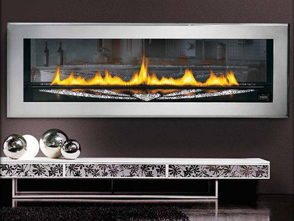 Swarovski Crystal Direct Vent Gas Fireplace Modern Indoor Fireplaces