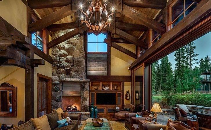 Sweeping Interiors Cabin Retreat Open Towards