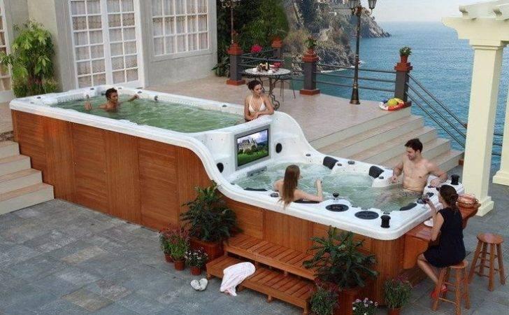 Swim Spa Lap Pool Exercise Hot Tub Swimming Current Brand New