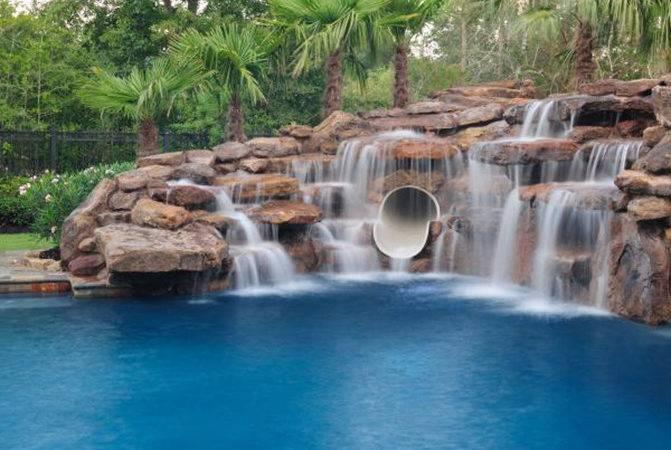 Swimming Pool Cave Waterfall Slide Platinum Pools