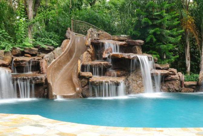 Swimming Pool Cave Waterfall Slide Platinum Pools