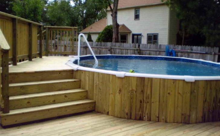 Swimming Pool Deck Plans Above Ground Decks