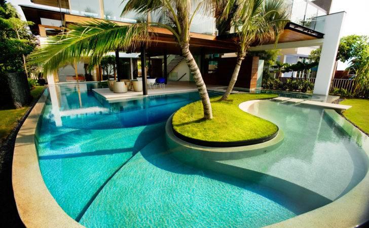 Swimming Pool Design Ideas Cool Inground Outdoor