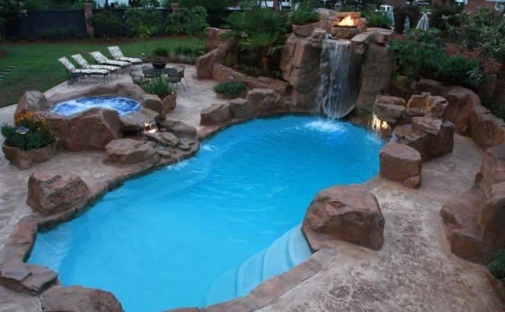 Swimming Pool Designs Waterfalls Modern Outdoor