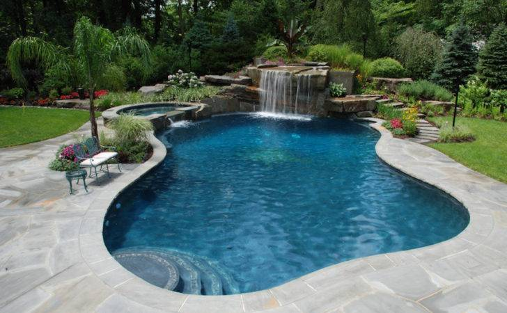Swimming Pool Landscape Design Lighting Tropical