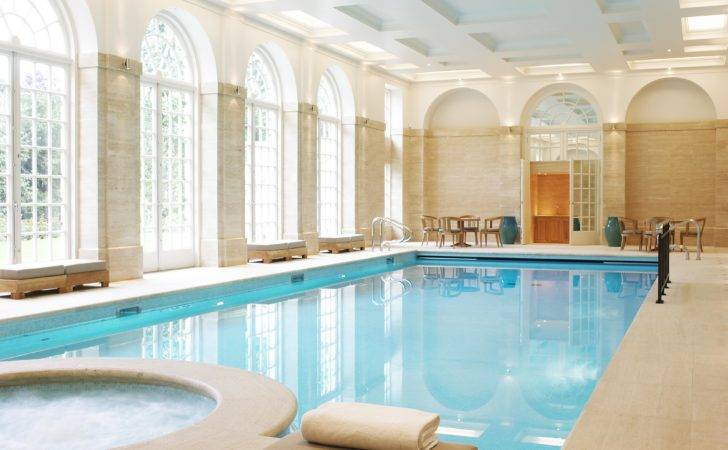 Swimming Pool Luxury Indoor House Designs Featuring